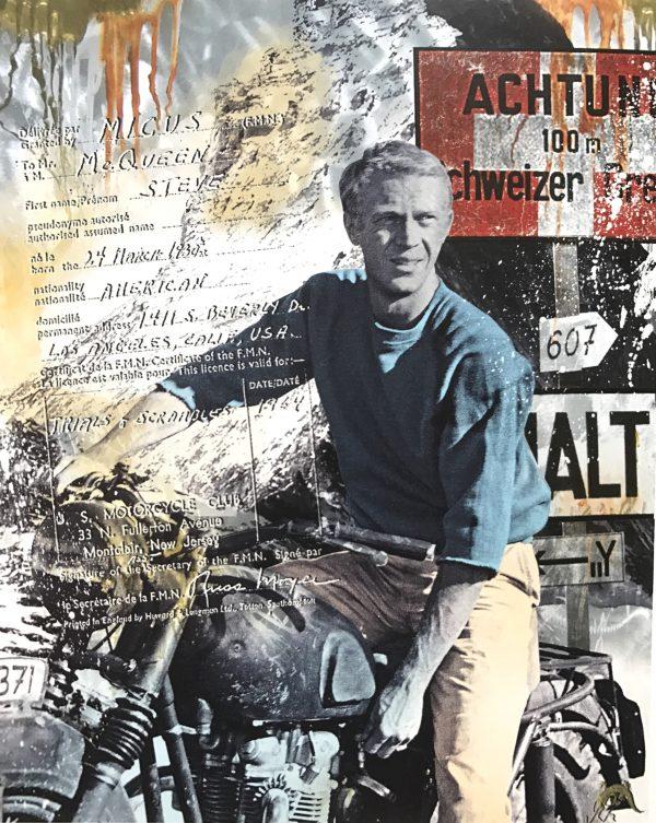 Devin Miles, Amerikan Hero 2,Siebdruck und Malerei auf gebürstetem Aluminium.