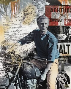 Devin Miles, Amerikan Hero 2, Siebdruck und Malerei auf gebürstetem Aluminium.