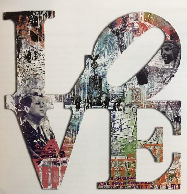 Devin Miles /Love /Siebdruck und Malerei auf gebürstetem Aluminium