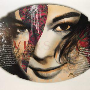 Devin Miles, Versace, Siebdruck und Malerei auf gebürstetem Aluminium