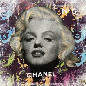 Devin Miles /Chanel No 5 /Siebdruck und Malerei auf gebürstetem Aluminium