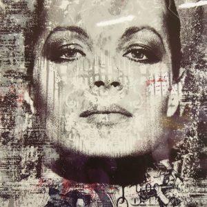 Devin Miles, The Joker, Siebdruck und Malerei auf gebürstetem Aluminium