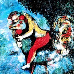 Marc Chagall /Der Hahn, Gerahmter Kunstdruck