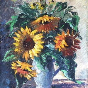 W. Just, Sonnenblumen, Ölgemälde