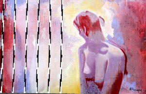 Mohammad Rasmjou, Illusion Acryl auf Leinwand
