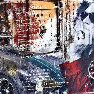 Devin Miles, Racer Malerei, Airbrush undHandsiebdruck auf gebürstetem Aluminium
