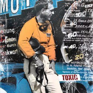 Devin Miles, Toxic, Malerei und Handsiebdruck auf gebürstetem Aluminium