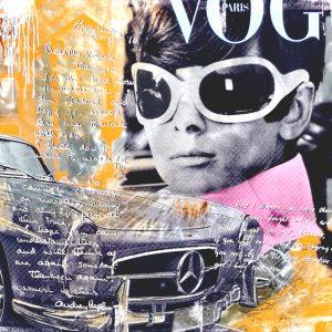 Devin Miles, Follow Your Dreams, Malerei, Airbrush undHandsiebdruck auf gebürstetem Aluminium