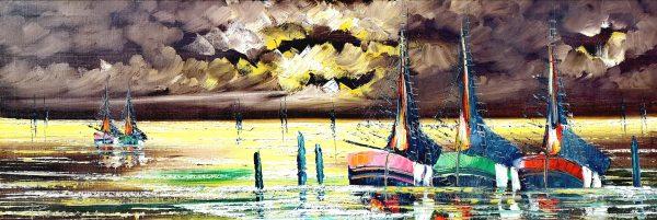 Ölgemälde, Boote