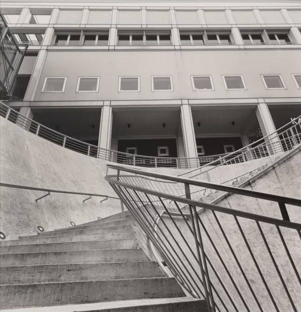 Stairs 2,Sw Fotografie auf Pe Papier