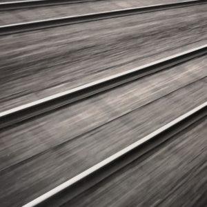 Railway Tracks, sw Fotografie auf Baryt Papier