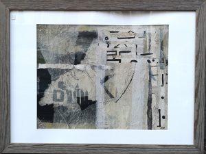 Ute Mohme, collage, Acryl auf Leinwand