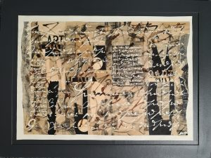 Ute Mohme, Collage Acryl auf Papier
