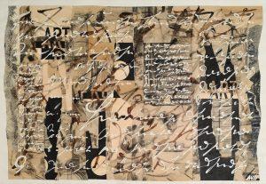 Ute Mohme, collage, Acryl auf Papier