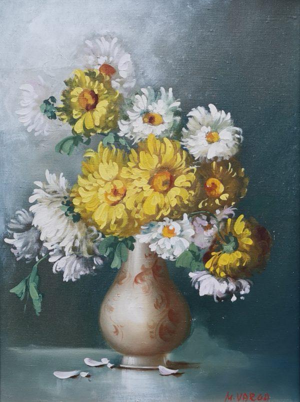 M. Varga, Blumenstrauß, Ölgemälde