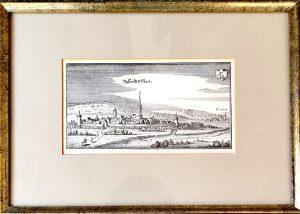 M. Merian, Kupferstich, Bad Salzuflen, Gerahmt