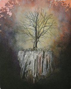 Baum, Wurzeln, Radierungen