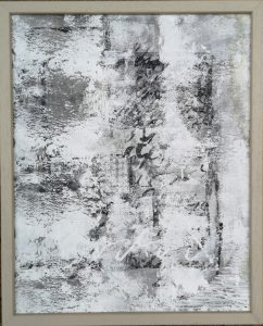 Ute Mohme, collage, Acryl auf Hardfaserplatte