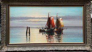 Gerold Eggert, Segelboot, Ölgemälde