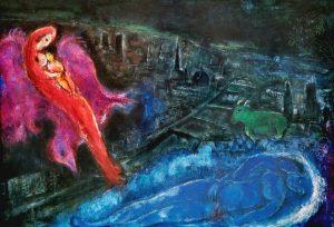 Marc Chagall, Seinebrücken, Kunstdruck