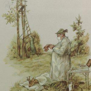 Der Chirurg und gein Bock, Kunstdruck