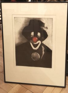 Clown, original Radierung