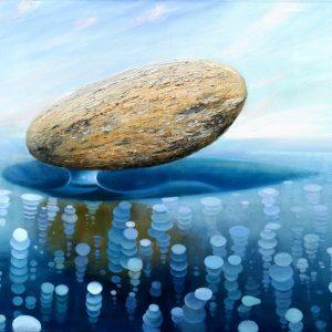 Yura Alekseev, Ölgemälde, Balance, Eis