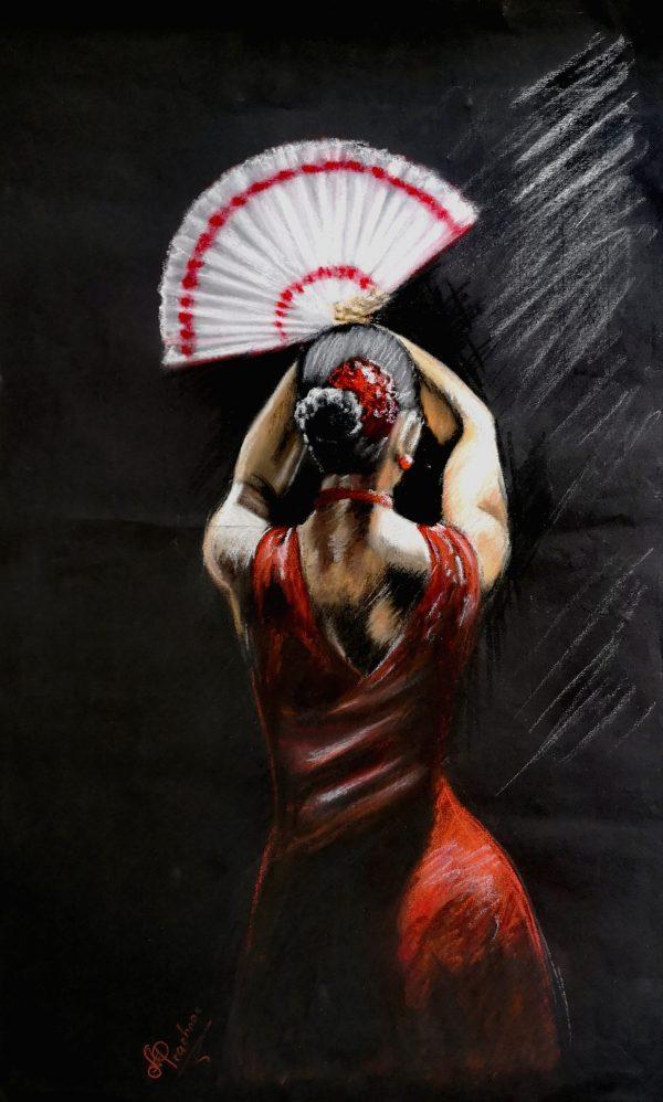 Flamenco Tänzerin, Pastell
