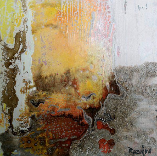 Mohammad Rasmjou, Acryl auf Leinwand, Abstrakt