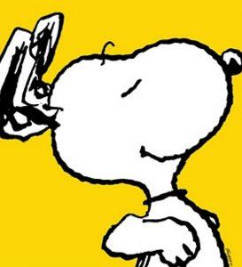Peanuts, Snoopy Yellow, Giclee auf Büttenpapier, Bildgröße 65x65cm,Limitierte Auflage 299